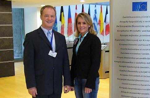 Werner Jostmeier MdL und Stefanie Röttger in Brüssel