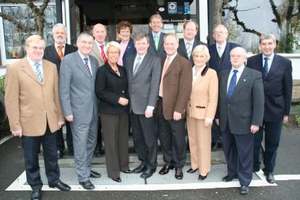 Die CDU-Landtagsabgeordneten aus dem Emsland, der Grafschaft Bentheim, dem Münsterland und dem Osnabrücker Land bei ihrem Treffen in Tecklenburg am Samstag.