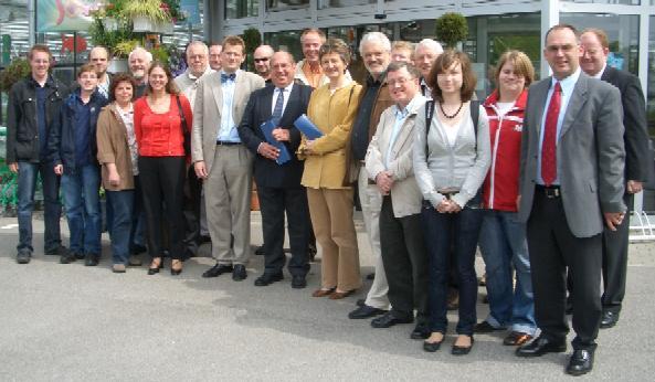 """Bei der diesjährigen Sommeraktion """"Teilhabe für alle!"""" informierten sich die CDA Kreisverbände Coesfeld und Borken über die stationäre Wohnungslosenhilfe im Haus Maria Veen in Reken."""