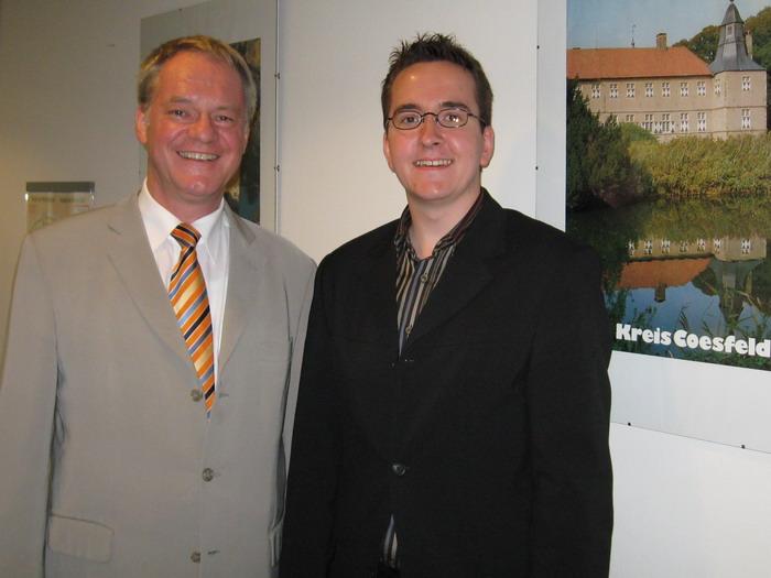 Der hiesige JU-Vorsitzende Stefan Lenz (r.) schaute dem CDU-Landtagsabgeordneten Werner Jostmeier für zwei Wochen über die Schulter.