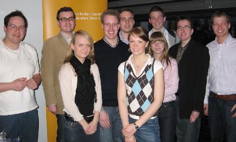 Die Delegation der Kreis-JU mit dem wiedergewählten JU-Bezirksvorsitzenden Tobias Jainta (2. v. l.).