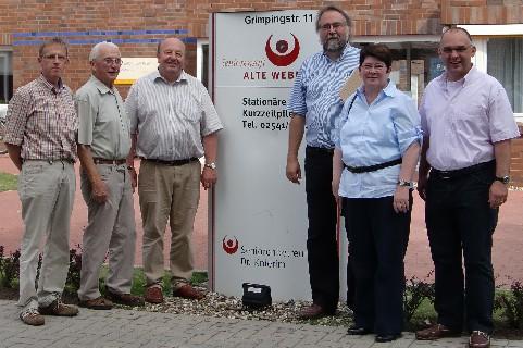 v.l. Günter David, Heinrich Pier, Norbert Hagemann, Dr. Alfred Knierim, Anni Willms und Roland Hericks