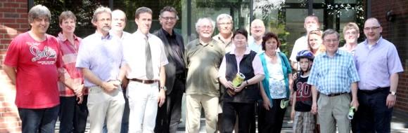 v.l. Vors. Des Fördervereins Jürgen Röleke, Schulleiter Norbert Heßling und Geschäftsführer Thomas Pliquett informierten die Mitglieder des CDU Arbeitskreises.
