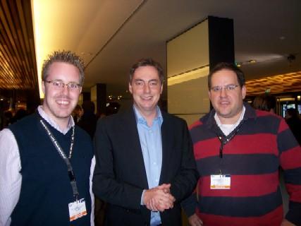 JU-Kreisvorsitzender Christoph Wäsker, Niedersachsens Ministerpräsident David McAllister MdL und JU-Bundesvorstandsmitglied Henrik Bröckelmann