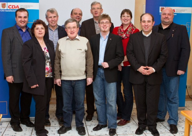 Der neu gewählte Vorstand der CDA im Kreis Coesfeld mit dem Nottulner Bundestagsabgeordneten Karl Schiewerling MdB. Es fehlen Anne Braune (stv. Vorsitzende), Wilfried Brosch und Maria Weiling (beide Beisitzer).
