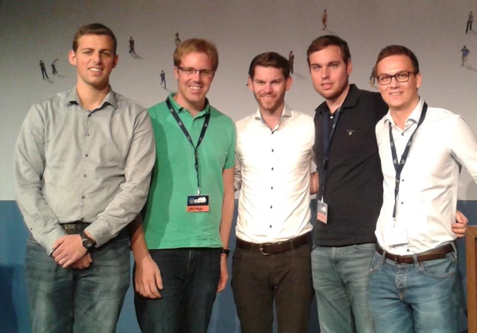 v.l.n.r.: Kilian Baumann, Kreisvorsitzender Christoph Wäsker, Landesvorsitzender Florian Braun, Tobias Jercha und Christoph Lux