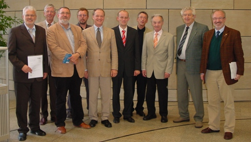 (vlnr) Bernhard Tenhumberg MdL, Helmut Ortmann, Ulrich Bösl, Detlef Lutz, Werner Jostmeier MdL, Thomas Springeneer, Josef Lehnen, Heinrich Schäfer, Franz Heitbaum, Rudolf Henke MdL
