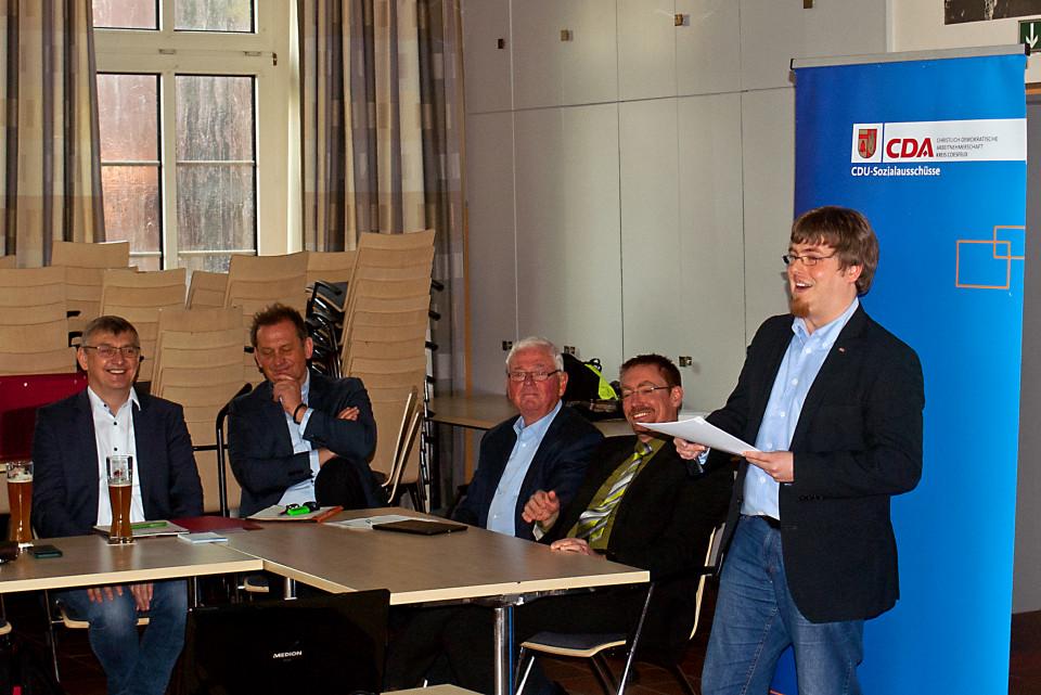 Jan Willimzig aus Dülmen (r.) bleibt Vorsitzender der CDA.